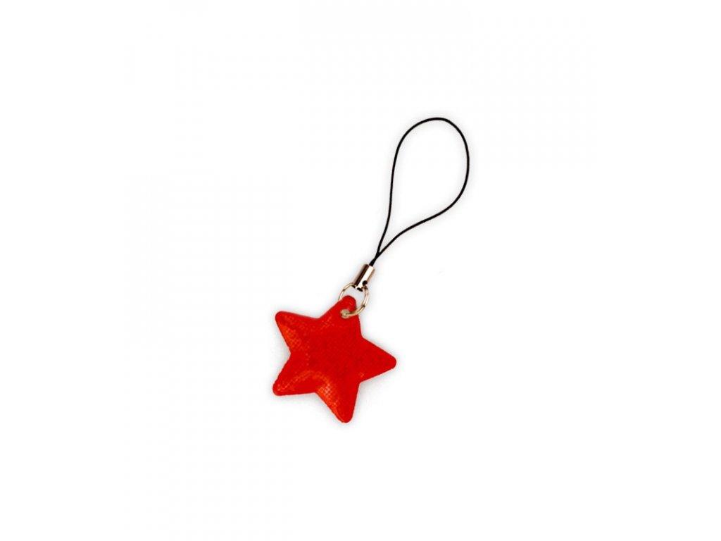 reflexni tahacek zipu hvezda červená
