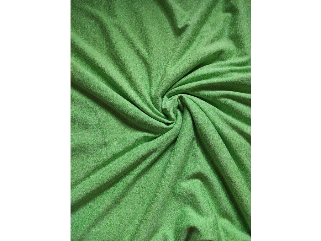 Pletenina světle zelený melír