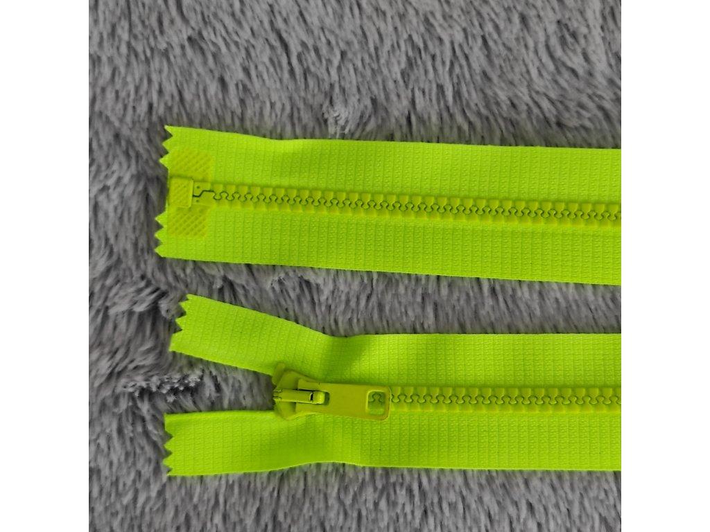 zip kostěný plastový reflexní žlutá 55 cm