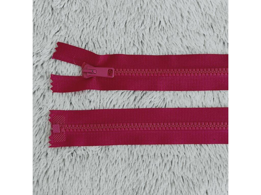 zip kostěný plastový malinový 60 cm