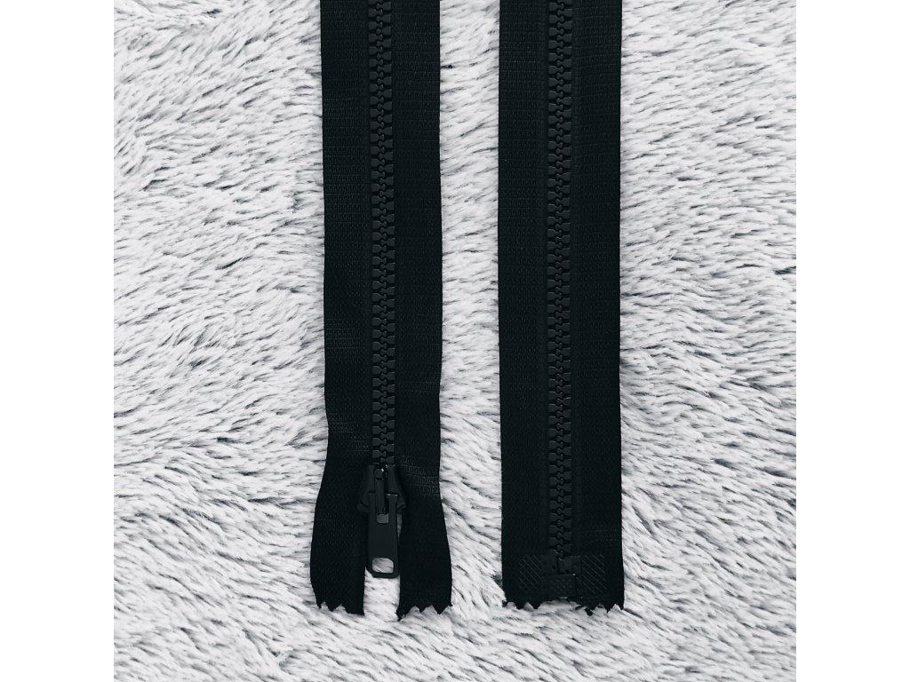 zip kostěný plastový černý 60 cm