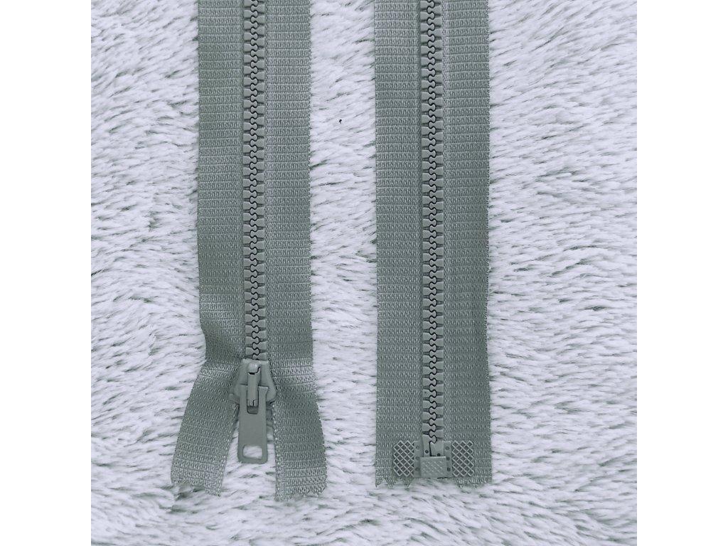 zip kostěný plastový tmavě šedý 60 cm