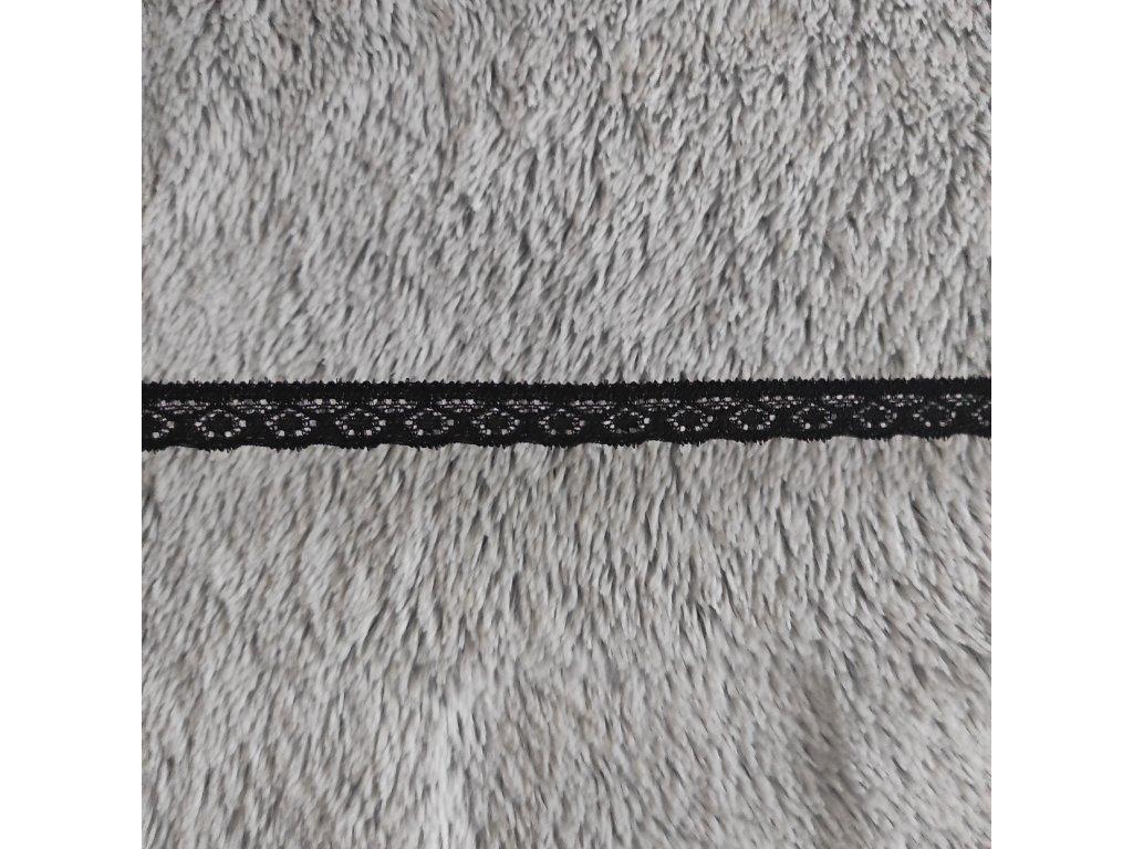 Krajka elastická černá 12 mm