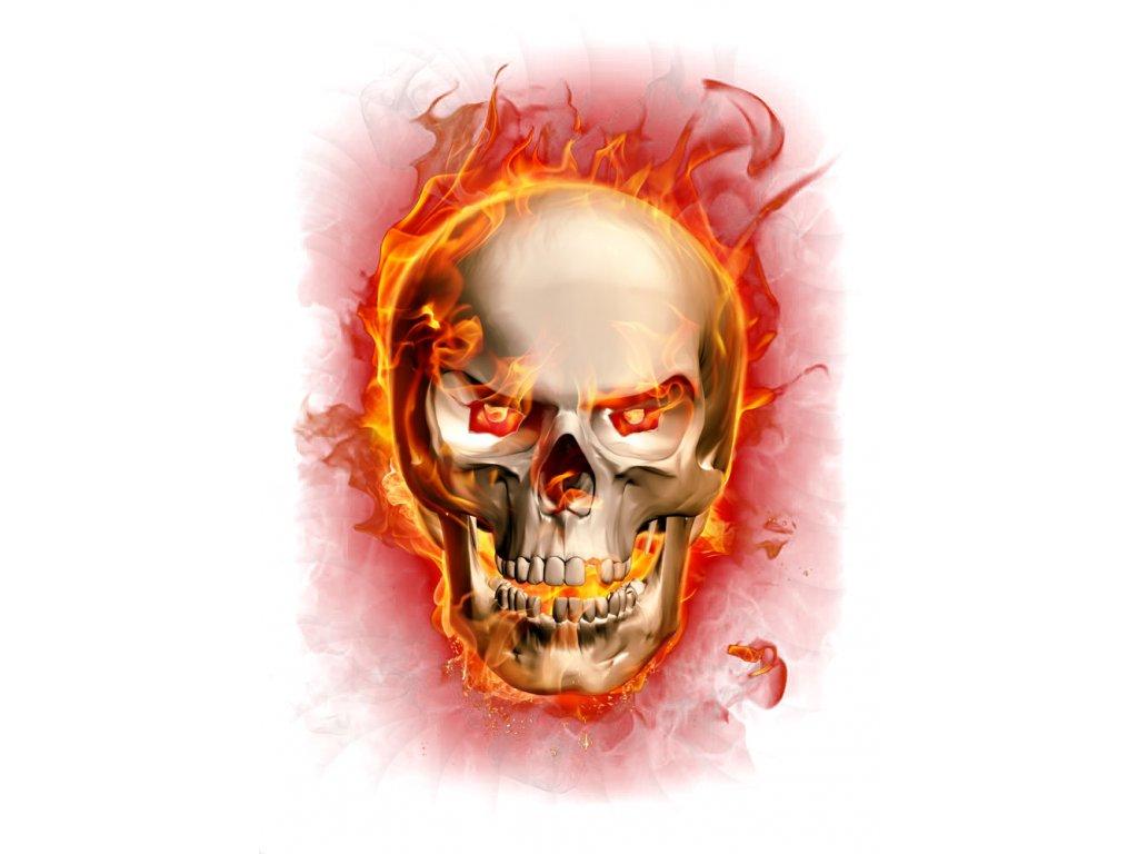 lebka v ohni č.5