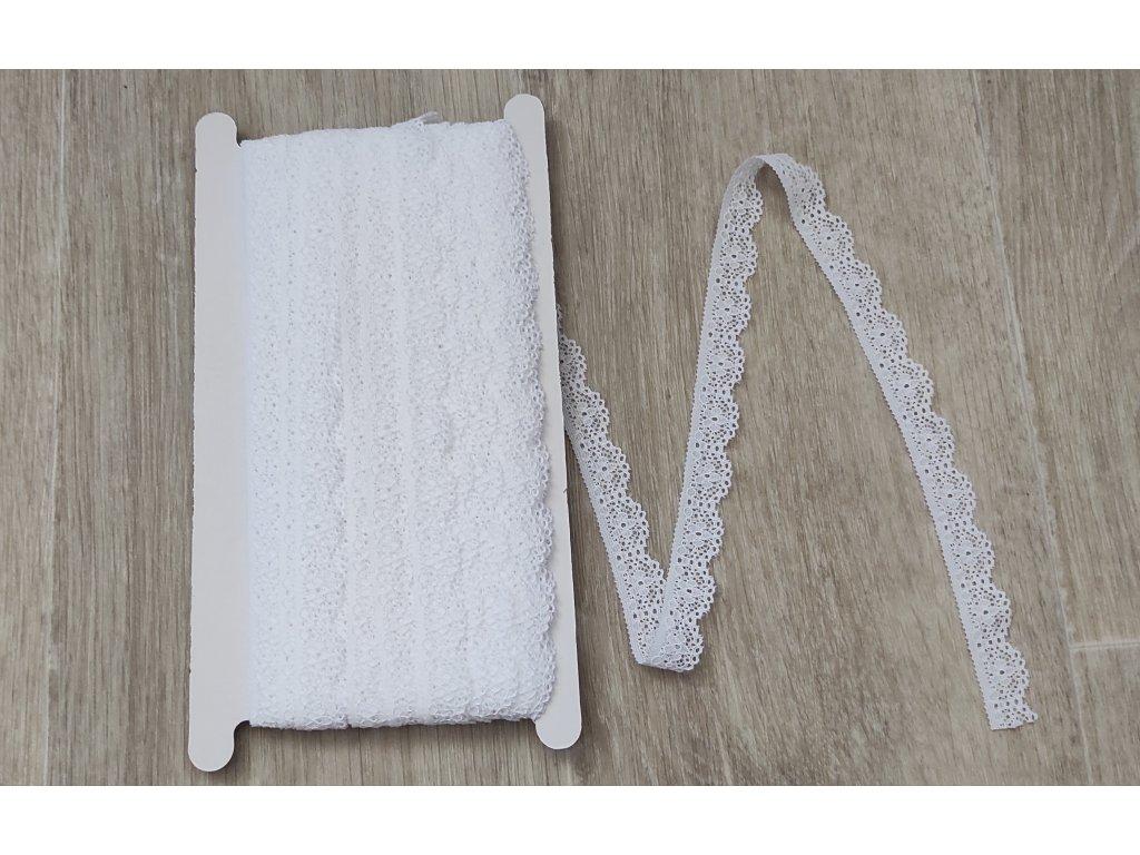 Krajka elastická bílá 16 mm