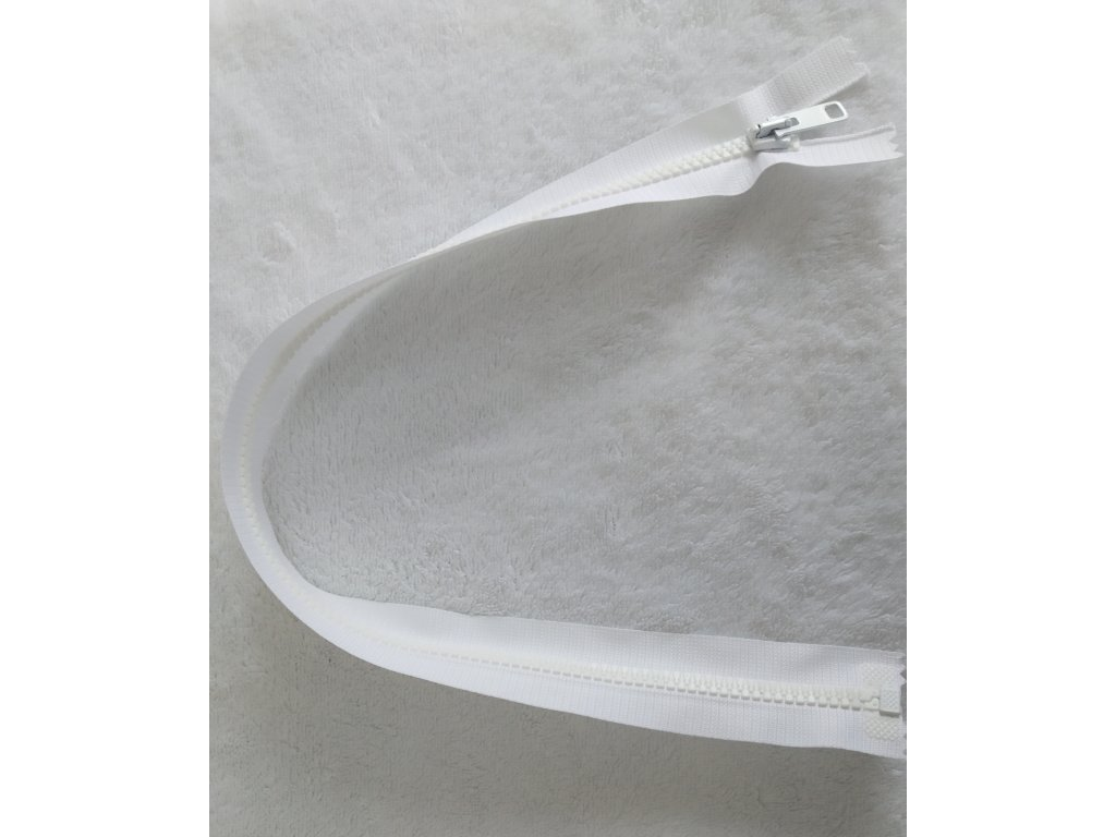 zip kostěný bílý plastový 50 cm