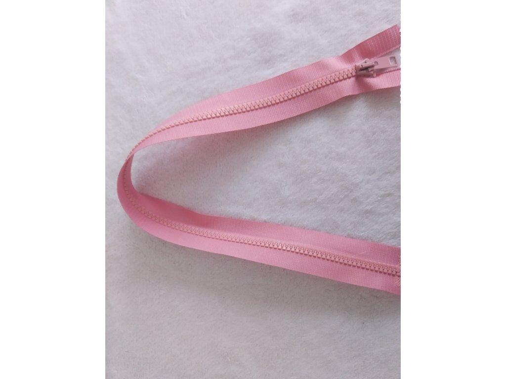 zip kostěný růžový plastový 50 cm
