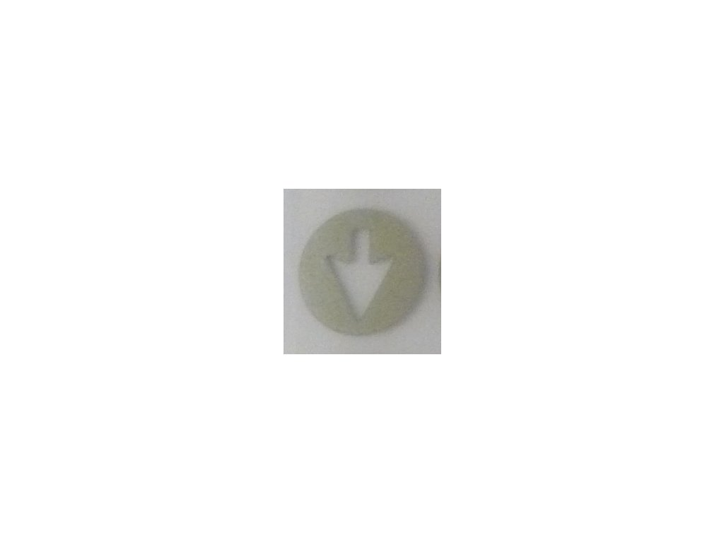 Reflexní nažehlovačka šipka malá kus