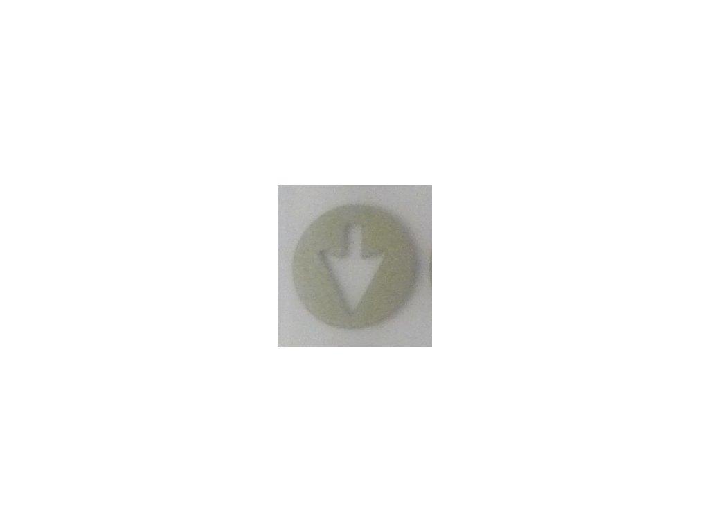 Reflexní nažehlovačka velká šipka
