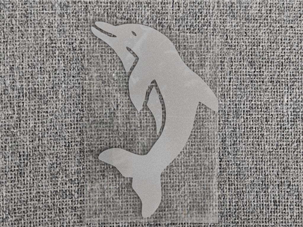 Reflexní nažehlovačka delfín velký