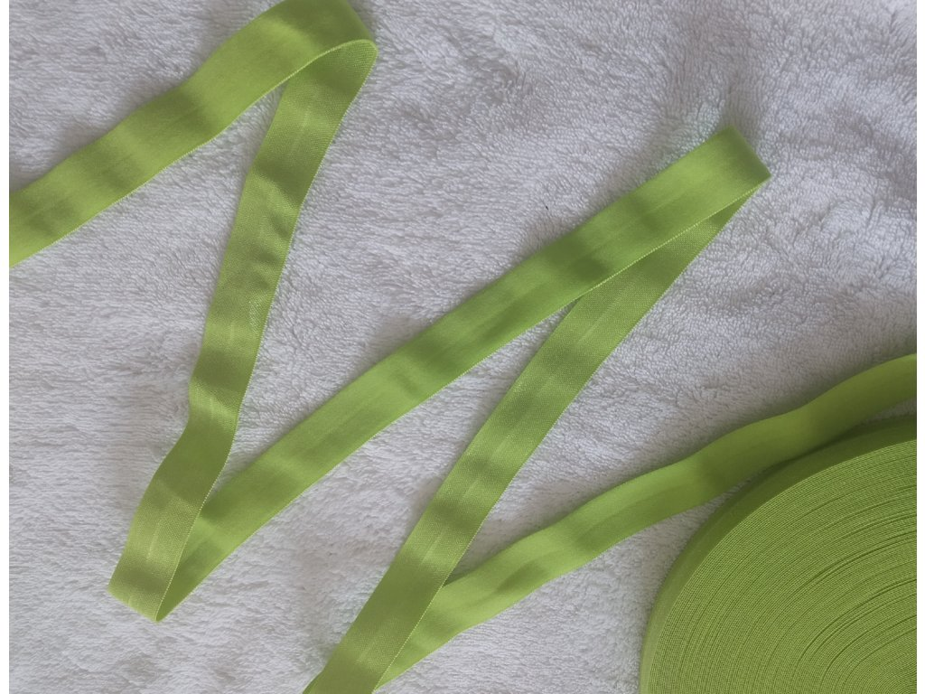 Lesklá lemovací pruženka 20 mm zelenkavá
