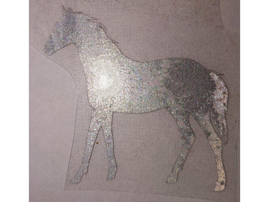 Reflexní nažehlovačka kůň 4x4cm.