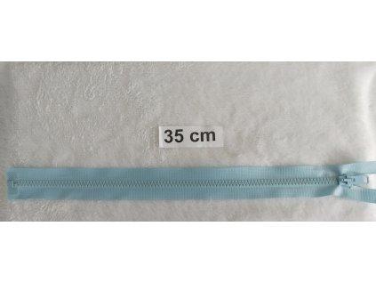 zip kostěný světle modrý plastový 35cm