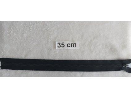 zip kostěný černý plastový 35cm