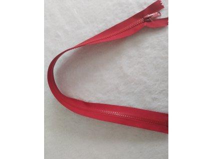 zip kostěný červený plastový 45cm