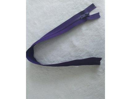 zip kostěný fialový plastový 45cm