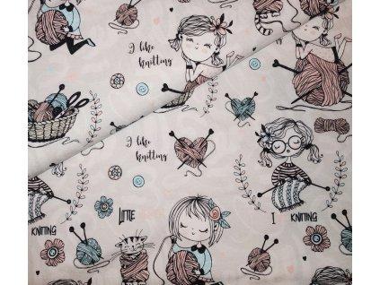 Teplákovina holčička a pletení