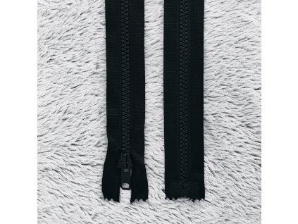 zip kostěný plastový černý 55 cm
