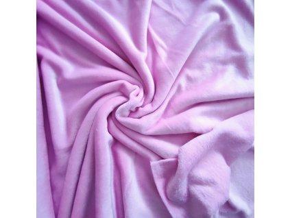 Flanel fleece baby růžová
