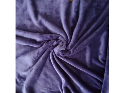 Flanel fleece tmavě fialová