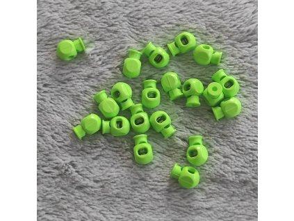 Brzdička kulatá neonově zelená