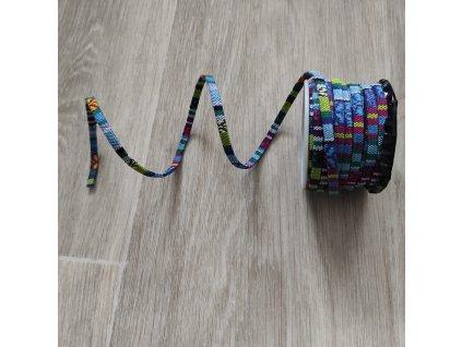 Pásek dekorační oboustranný 5 mm vzorovaný