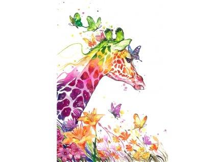 teplákovina, úplet žirafy