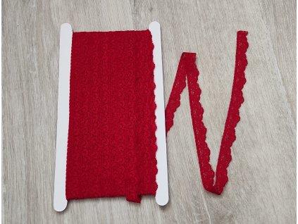 Krajka elastická červená 16 mm