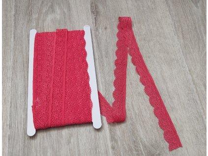 Krajka elastická korálová 25 mm