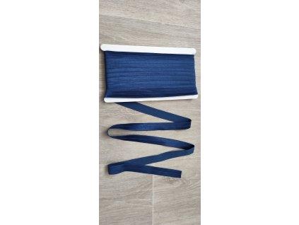 Lesklá lemovací pruženka 20 mm kobaltově modrá