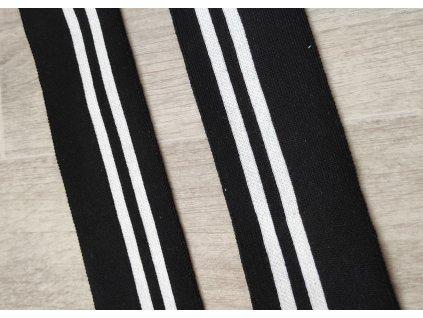 Náplet elastický černobílé pruhy
