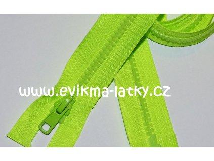 Zip kostěný 90 cm neon žlutá