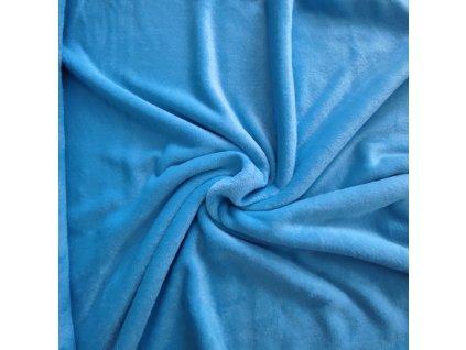 Flanel fleece nebesky modrá