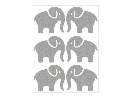 Reflexní nažehlovačka slon velký sada