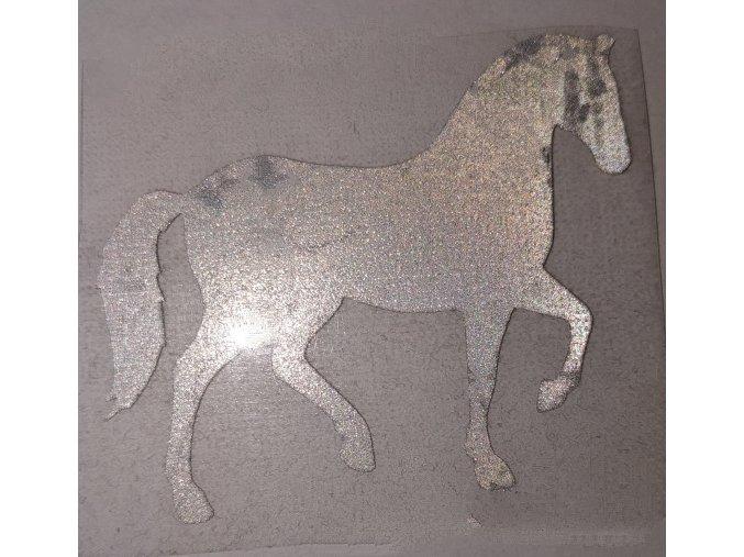 Reflexní nažehlovačka kůň 6 cm.
