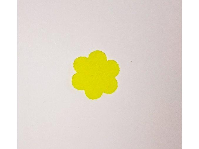 Nažehlovací sametová folie kytička žlutá 7,5cm