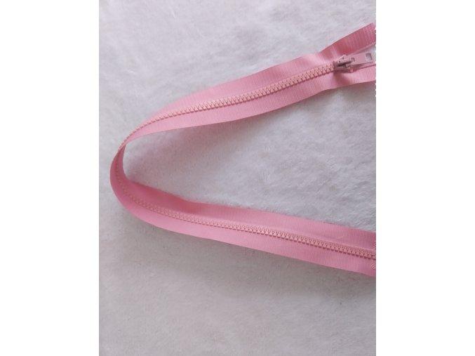 zip kostěný růžový plastový 45cm