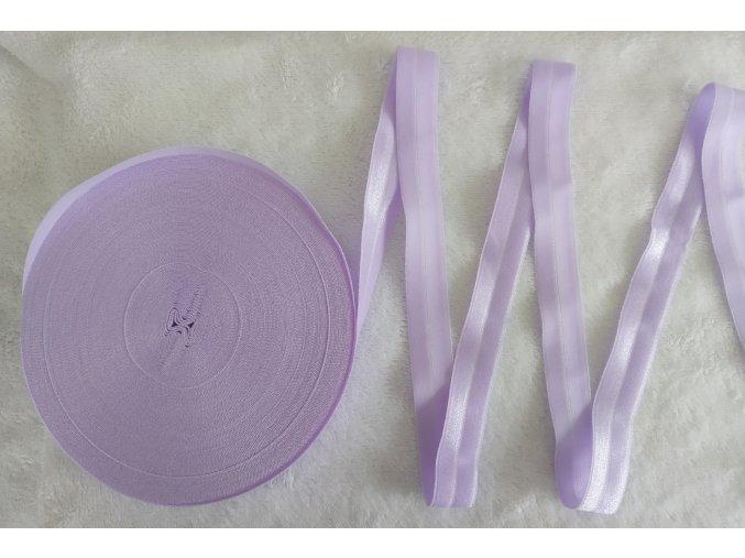 Lesklá lemovací pruženka 19 mm ledově fialová