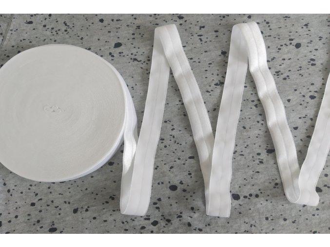 Lesklá lemovací pruženka 25 mm bílá