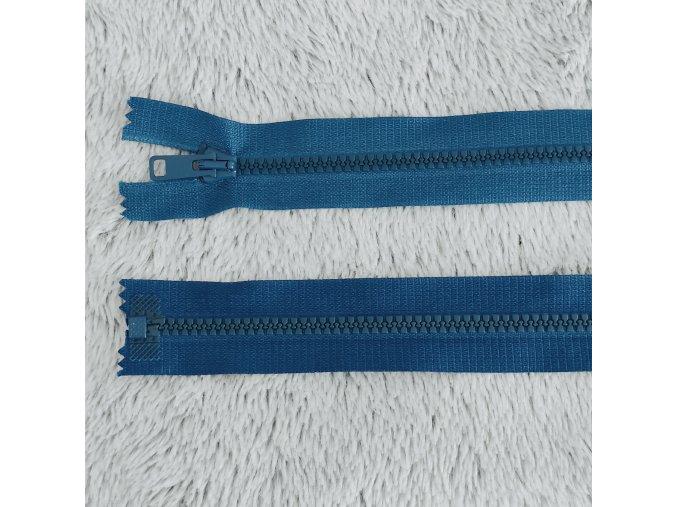 zip kostěný plastový tyrkysový 60 cm