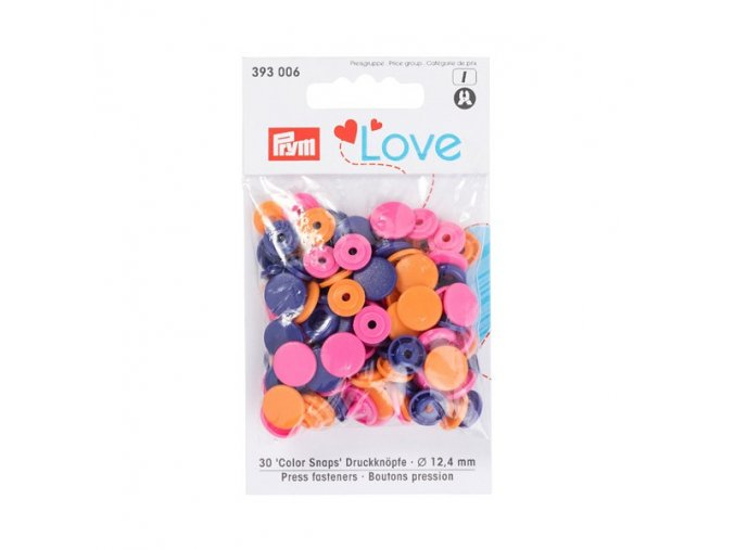 patentky prym love kulate color snaps 393006 12 4 mm