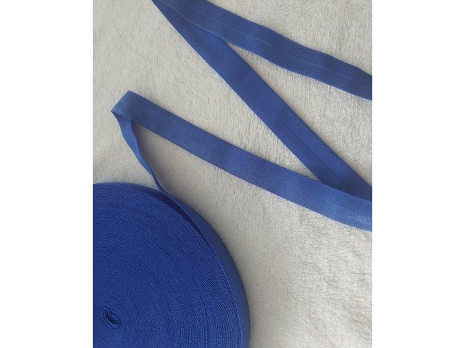 Lesklá lemovací pruženka 20 mm tmavě modrá