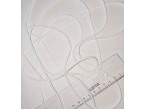 šňůra bavlněná bílá na roušky 3mm