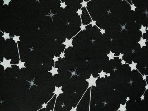 Plátno hvězdná obloha na černém podkladu