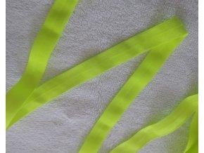 Lesklá lemovací pruženka 19 mm neonově žlutá