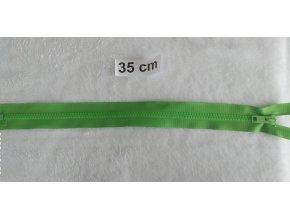 zip kostěný světle zelený plastový 35cm
