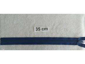zip kostěný námořnická modrá plastový 35cm