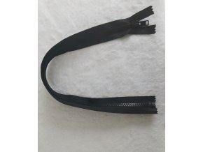 zip kostěný černý plastový 45cm
