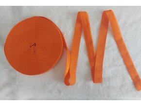 Lesklá lemovací pruženka 19 mm oranžová
