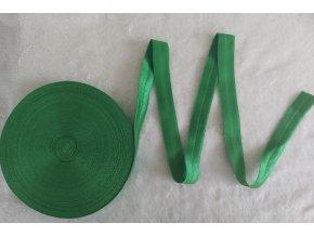 Lesklá lemovací pruženka 19 mm zelená
